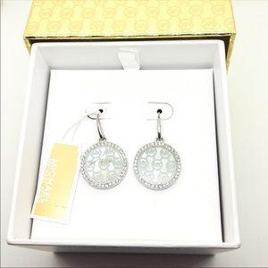 Michael Kors Monogram Drop Earrings